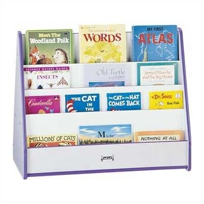 "Jonti-Craft 28"" H Rainbow Accents Pick-a-Book Stand - 2 Sided"