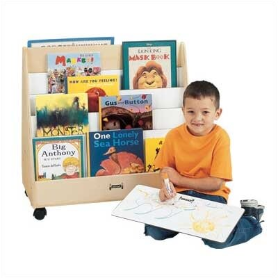 Jonti-Craft 30&quot; H Mobile Pick-a-Book Stand - 1 Sided