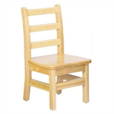 "Jonti-Craft KYDZ 8"" Wood Classroom Ladderback Chair (Set of 2)"