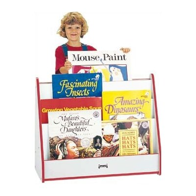 "Jonti-Craft 28"" H Rainbow Accents Big Book Mobile Pick-a-Book Stand - 1 Sided"