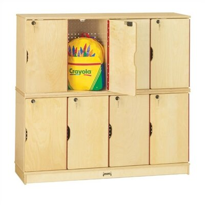 Jonti-Craft ThriftyKYDZ Double Stack Lockable Lockers