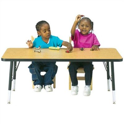 "Jonti-Craft KYDZ Toddler Height Activity Table- Rectangular (24"" x 48"")"