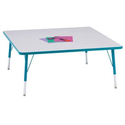 "Jonti-Craft Rainbow Accents Activity Table- Square (48"" x 48"")"