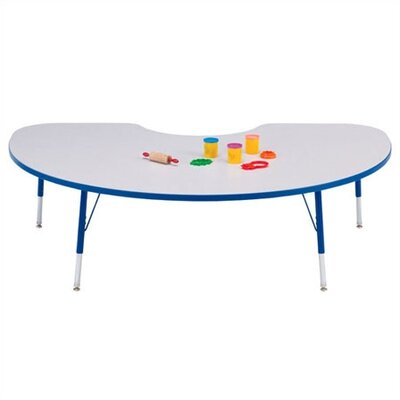 "Jonti-Craft Rainbow Accents KYDZ Toddler Height Activity Table- Kidney (48"" x 72"")"