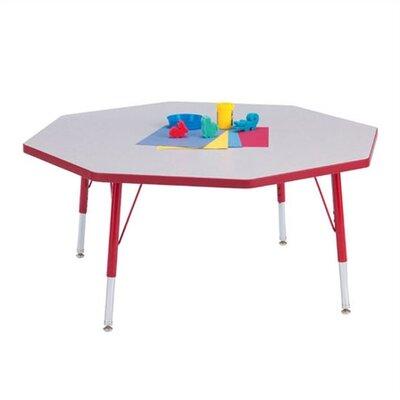 "Jonti-Craft Rainbow Accents KYDZ Toddler Height Activity Table- Octagon (48"" diameter)"