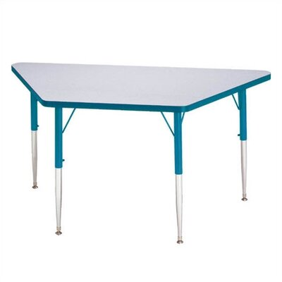 "Jonti-Craft Rainbow Accents KYDZ Toddler Height Activity Table- Trapezoid (24"" x 48"")"