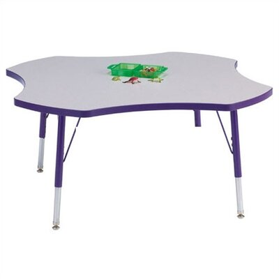 "Jonti-Craft Rainbow Accents KYDZ Activity Table- Four-Leaf (48"" Diameter)"