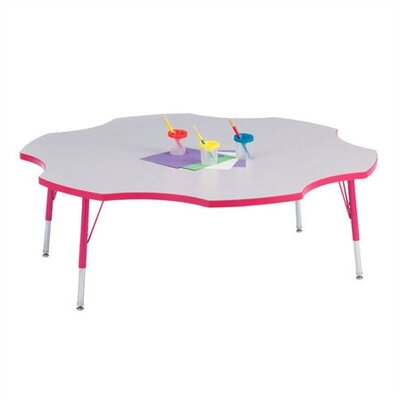 "Jonti-Craft Rainbow Accents KYDZ Activity Table- Six Leaf(60"" Diameter)"
