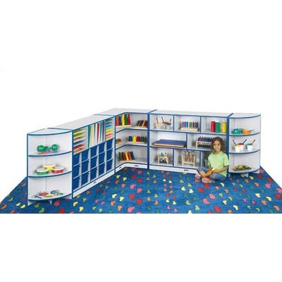 "Jonti-Craft KYDZ Rainbow Accents Corner Storage - Rectangular (30"" x 15"")"