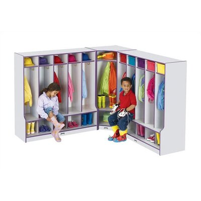 "Jonti-Craft KYDZ Rainbow Accents Coat Locker Corner Section - Rectangular (24"" x 17.5)"