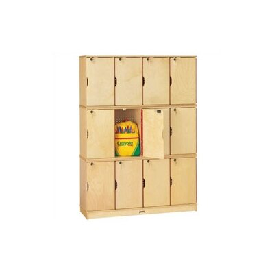 Jonti-Craft Triple Stack Lockable Lockers with Optional Master Key