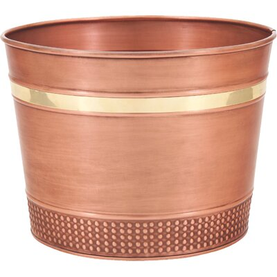 Decorative Copper Round Planter