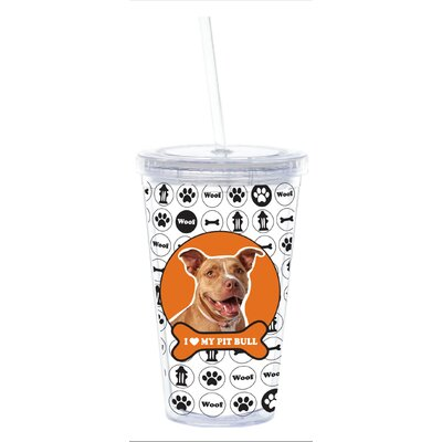 Little Gifts 3D Pitbull Doublewall Cup