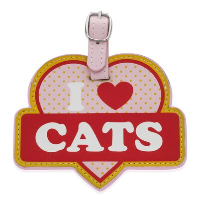 Little Gifts I Love Cats Luggage Tag