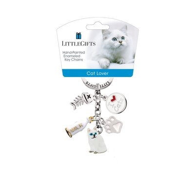 Little Gifts Sitting Cat Enamel Key Chain
