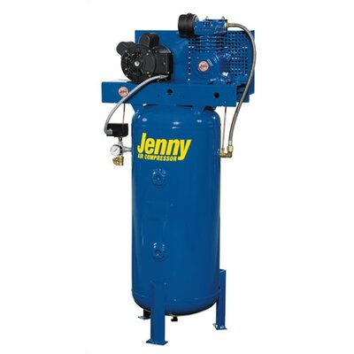 Jenny Products Inc 30 Gallon 1.5 HP Single Stage Electric Stationary Air Compressor