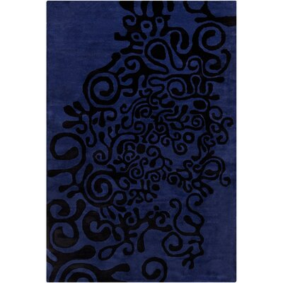 Filament Cinzia Violet-Blue Abstract Rug