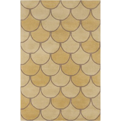 Filament  LLC Cinzia Yellow/Gold Abstract Rug
