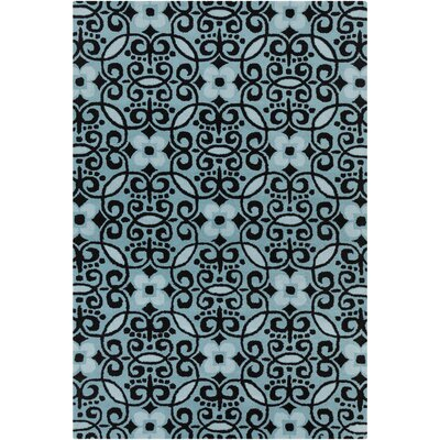 Filament Cinzia Blue/Black Abstract Rug