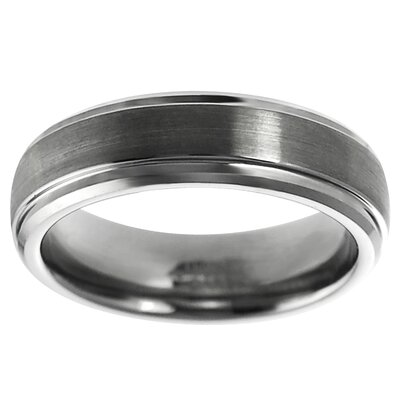 Men's Tungsten Carbide Stepped Edge Band Ring