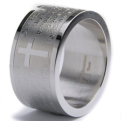 Men's Stainless Steel Lord's Prayer Ring