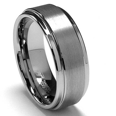 Bonndorf Men's Tungsten Comfort Fit Wedding Band
