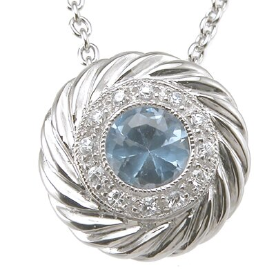 Plutus Partners .925 Sterling Silver Brilliant Cut Topaz Fashion Pendant