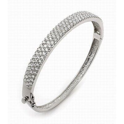 Pave Cubic Zirconia Bangle Bracelet