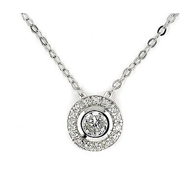 Sterling Silver Elegant Round Cubic Zirconia Necklace