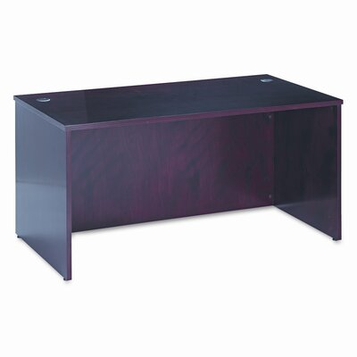 "HON 60"" W BW Veneer Series Rectangular Executive Desk Shell"