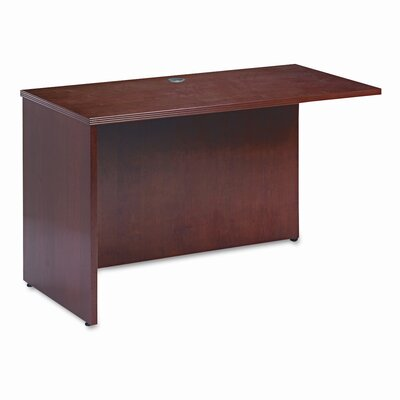 "HON Basyx Rich Wood Veneer 29"" H x 48"" W Left Desk Return"