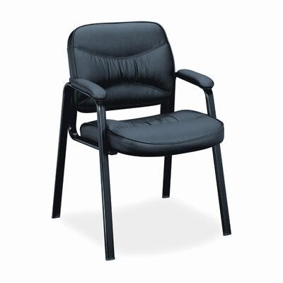 HON VL640 Series Leather Guest Chair with Leg Base