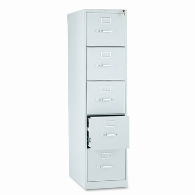 HON 310 Series Five-Drawer Letter Vertical File