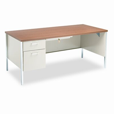 HON 34000 Series Metro Classic Computer Desk with Left Pedestal Workstation