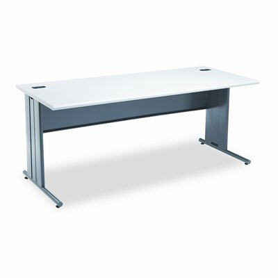 HON The Stationmaster Computer Desk, 72w x 29-1/2d, 29-1/2h, Gray Patterned
