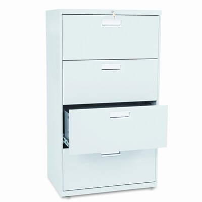 "HON 600 Series 30"" W Four-Drawer Lateral File"