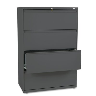 "HON 800 Series 36"" W Four-Drawer Lateral File with Locks"