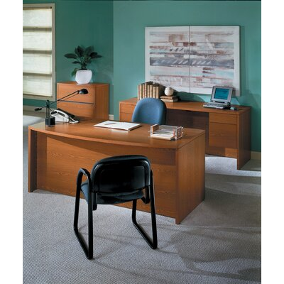 HON 10500 Series Bow Front Desk Double Pedestal