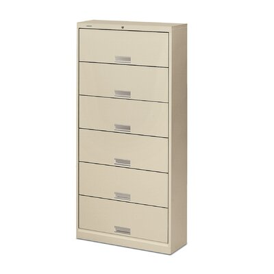 HON 600 Series Six-Shelf Letter File with Receding Doors