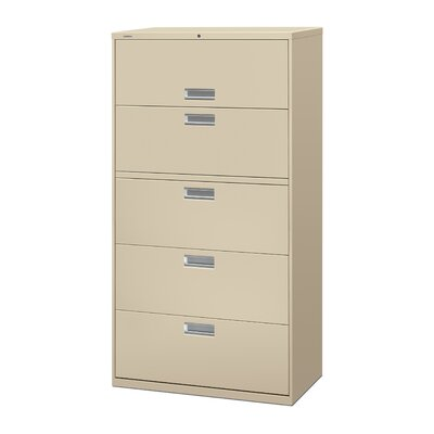 "HON 600 Series 36"" W Five-Drawer Lateral File"