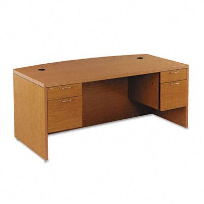 HON 11500 Series Valido Executive Desk with Bow Front Double Pedestal
