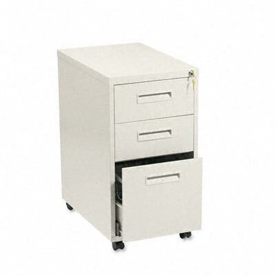 "HON Basyx Embark Series Mobile Box/Box/File Pedestal File with ""M"" Pull Drawers, 20D"
