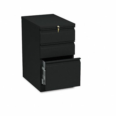 "HON Efficiencies Mobile Pedestal File with One File/Two Box Drawers, 22.88"" D"