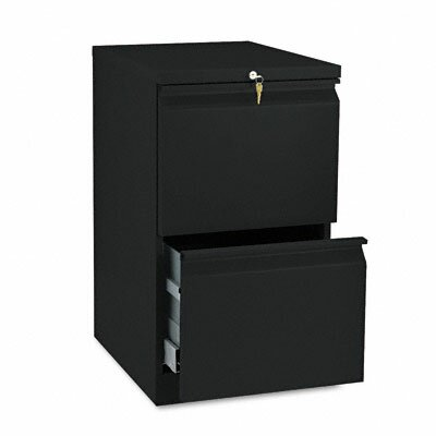 HON Efficiencies Mobile Pedestal File with Two File Drawers, 19-7/8D