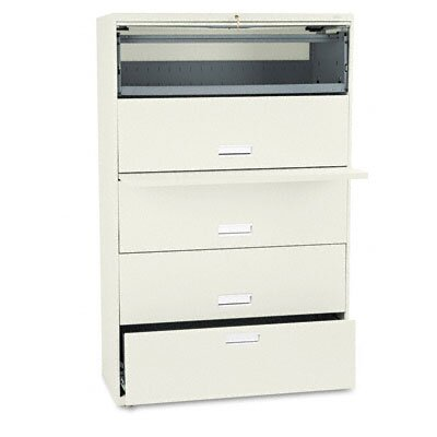 HON 600 Series Lateral File w/1 Drawer/4 Roll-Out Shelves, 42w, PY