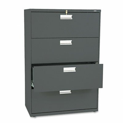 "HON 600 Series 36"" W Four-Drawer Lateral File"