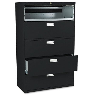"HON 600 Series 42"" W Five-Drawer Lateral File"