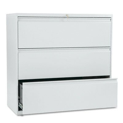 HON 800 Series Three-Drawer Lateral File, 42W X 19-1/4D X 40-7/8H