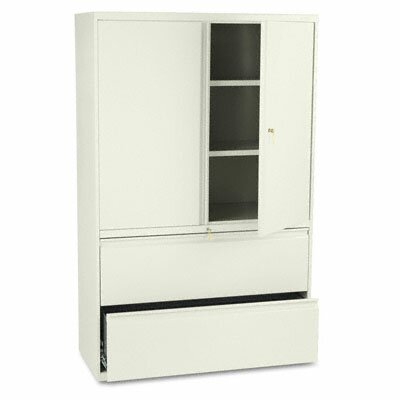 HON 800 Series Storage Cabinet With 2-Drawer Lateral File, 42w, Putty