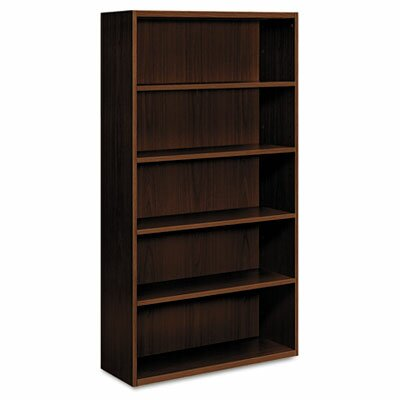 HON Arrive Five-Shelf Bookcase, Henna Cherry
